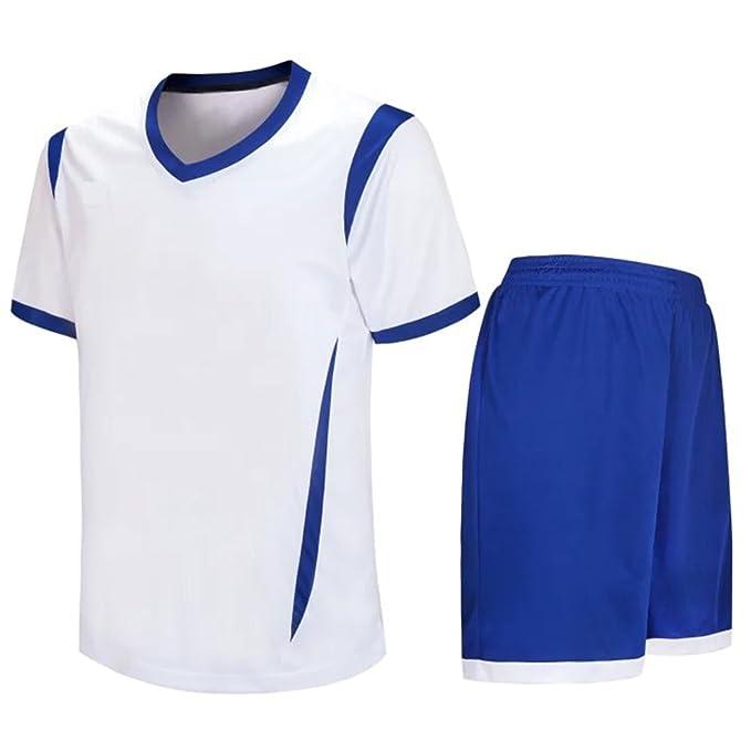 ZEVONDA Hombres Niño Transpirable Poliéster Ropa Deportiva Camiseta y Pantalones  Cortos Conjunto de Entrenamiento de Equipo de Competencia de Deportes Traje  ... 9fd8d752d4a4a