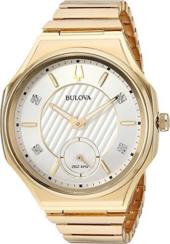 Bulova Unisex Curv Bracelet - 97P136 Gold One Size (Bulova 17 Jewel)