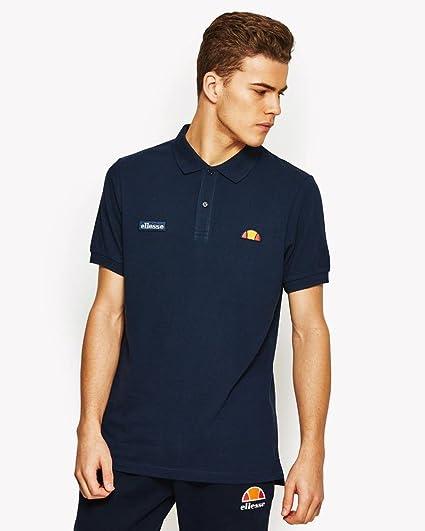 160b44f38a ellesse Montura Regular Fit Basic Logo Grey Polo