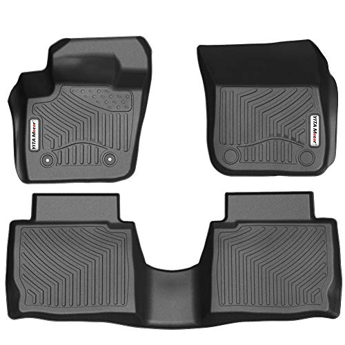 YITAMOTOR Floor Mats Compatible for 2013-2016 Ford Fusion Energi/Titanium/Lincoln MKZ,Includes 1st Front & 2nd All Weather Protection Floor Liners