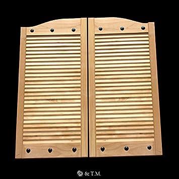 Cafe Doors by Cafe Doors Emporium | Alder Wood Cafe Doors | Custom Rivet Accents |