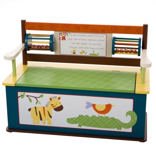 Wildkin Jungle Jingle Toy Box Bench by Wildkin