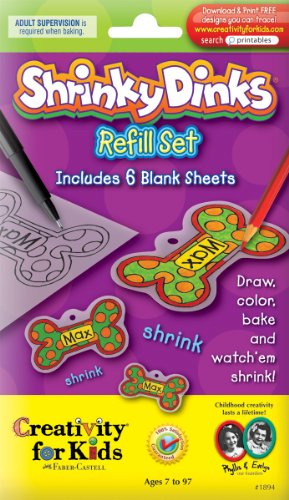 Faber-Castell Creativity For Kids Activity Kit: Shrinky Dinks Refill Sheets