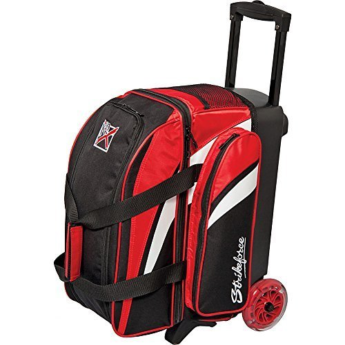 KR Strikeforce Cruiser Smooth Double Roller Bowling Bag, Red/White/Black