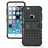 new iphone 6 plus protective case - iPhone 6 Plus Case Black - Case For iPhone 6 Plus/iPhone 6S PLUS Cases (6+ ONLY) Thin Tough Rugged Shockproof Dual Layer Hybrid Hard/Soft Slim Protective Cover (5.5 inch) by Cable and Case - Black