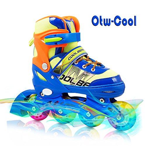 Otw-Cool Adjustable Inline Skates for Kids Boys Skates with All Wheels Light up
