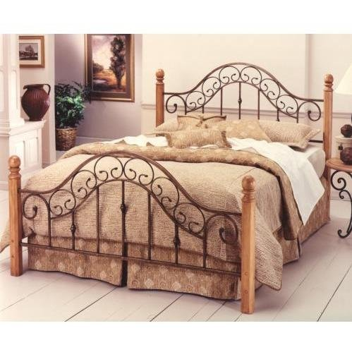 Hillsdale Furniture 310BK San Marco Bed Set without Rails, King, Brown Copper