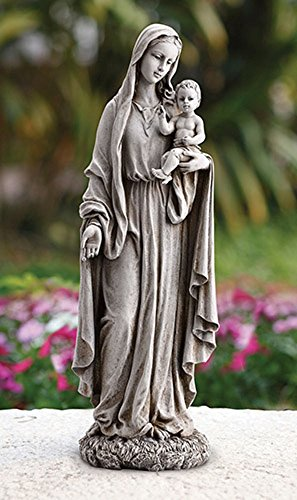 Madonna Garden Statue - Avalon Gallery Madonna and Child Resin Garden Statue, 23 Inch