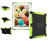 New 2018 shockproof hybrid iPad case for iPad 9.7'' 2018/2017 release is also suitable for iPad Air 1st 2013 release model A1893 A1954 A1822 A1823 A1747 A1475 A1476 Green