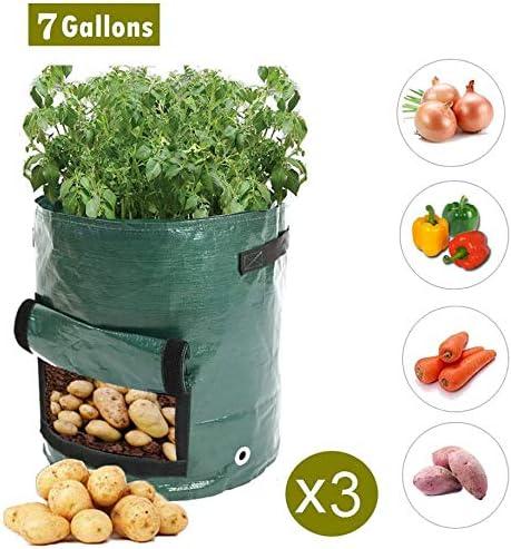 INMOZATA Bolsas de Cultivo de Patatas de 10 galones, Impermeables ...