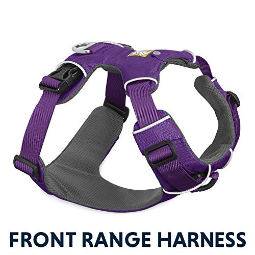 - RUFFWEAR - Front Range, Everyday No Pull Dog Harness with Front Clip, Trail Running, Walking, Hiking, All-Day Wear, Tillandsia Purple (2017), Medium
