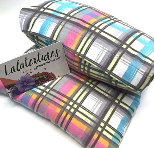 extra-large-11-x-21-in-microwavable-flax-heating-pad-pastel-plaid-unscented-the-flax-sak-hot-cold-pa