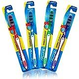 12 Pack Oral-B Shiny Clean Soft 35 Ergonomic Z Shaped Bristles Manual Toothbrush