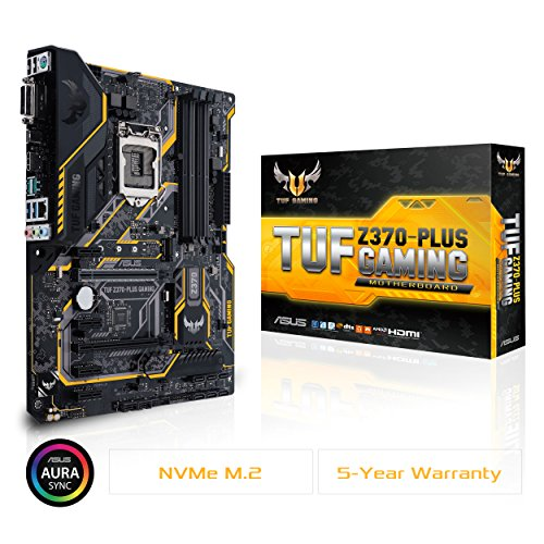 ASUS TUF Z370 Plus Gaming LGA1151 DDR4 HDMI DVI M.2 Z370 ATX Motherboard with Gigabit LAN and USB 3.1 for 8th Generation Intel Core Processors (Best Gta V Glitches)