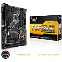 ASUS TUF Z370 Plus Gaming LGA1151 DDR4 HDMI DVI M.2 Z370 ATX Motherboard with Gigabit LAN and USB 3.1 for 8th Generation Intel Core Processors