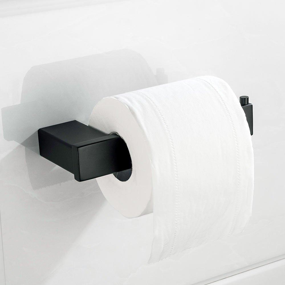 (TOILET PAPER HOLDER) Velimax SUS 304 Stainless Steel Toilet Paper Holder Wall Mounted Contemporary Style, Matt Black B074PK3Q6R Toilet Paper Holder Toilet Paper Holder
