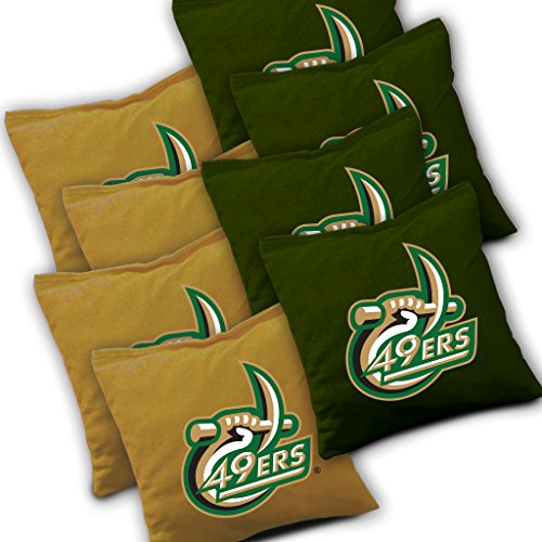 UNC CHARLOTTE 49ERS Cornhole Bags SET of 8 Officially Licensed ACA REGULATION Baggo Bean Bags ~ Made in the USA ()