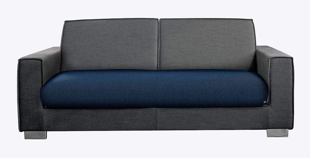M/&O COPRISEDUTA COPRIDIVANO per Divano da 3 POSTI Colore Blu Royal