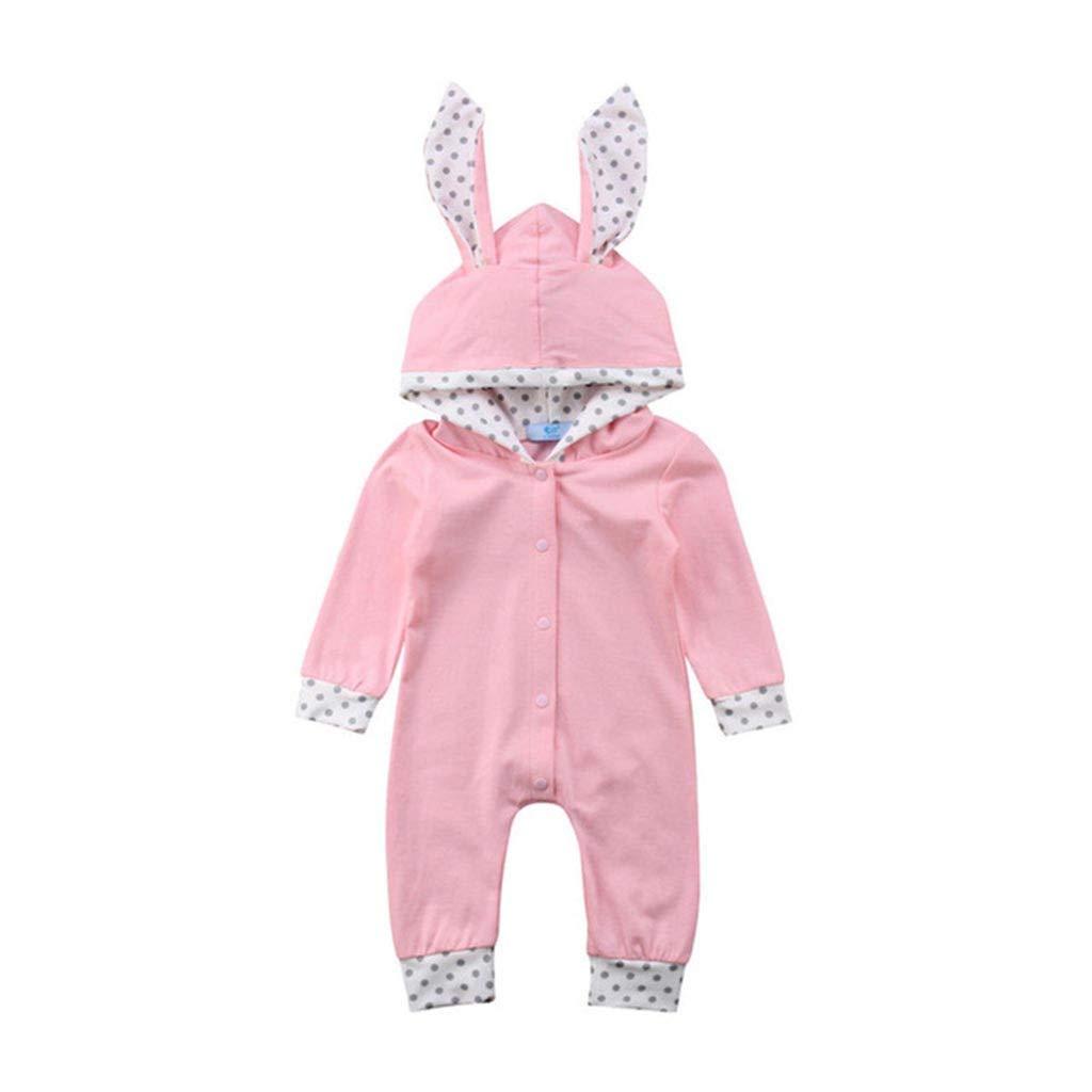TTLOVE/_Baby Baby Born Strampler Kleidung Set Neugeborene Kinder S/äugling Jungen M/ädchen Overall Jumpsuit Cartoon Print Mit Kapuze Schlafstrampler Bodysuit Outfit 0-18 Monate