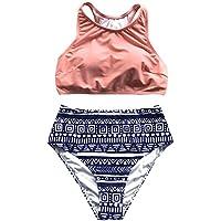 CUPSHE Women's Misty Poetry Tank Bikini Set Beach Swimwear Beach Suiting