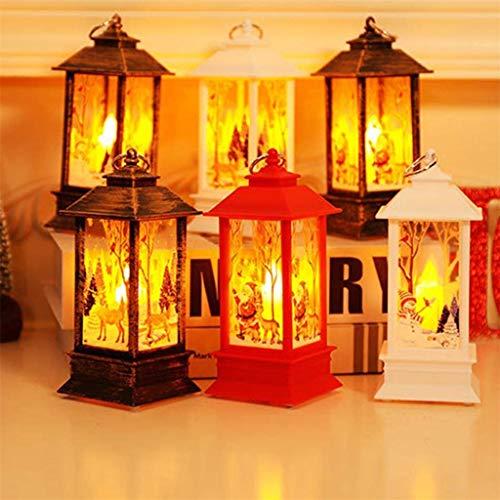 Clacce 1/2 Stück Weihnachtskerze mit LED Teelicht Kerzen für Weihnachtsdekoration Party Weihnachtsdeko, Kleine Öllampe mitTragbare Simuliert Kerzen mit Elch (Purpur, 1 Stück)
