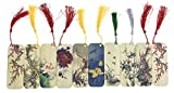 10 PCS Flower and Bird Themed Bamboo Chinese Style Bookmarks for Kids School Study Decoration Souvenirs Business Christmas Birthday GIF