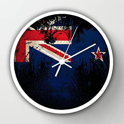 Timex Universal IndoorOutdoor Clock Flag Of New Zealand White