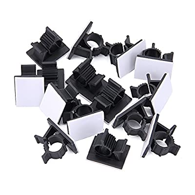 Adjustable Cable Clips (50Pcs), JTDEAL Premium 3M Adhesive Nylon Wire Clamps Cable Organizer Desk Wall Computer Electrical Cord Cable Ties, Plastic Cable Management System for Car/Office/Home
