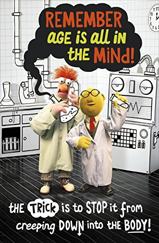 The Muppets Beaker Dr Bunsen Honeydew Age Is All In The Mind Birthday Card (Beaker From Muppets)