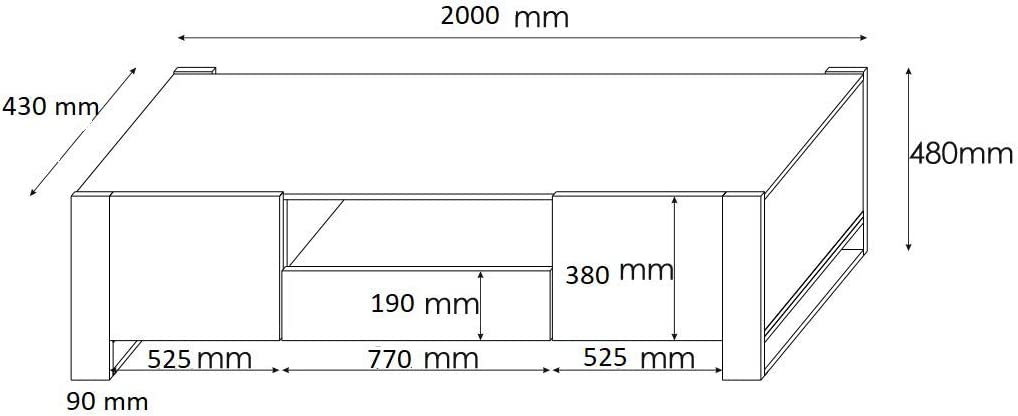 BIM Furniture Mobiletto TV Nuka 200 cm