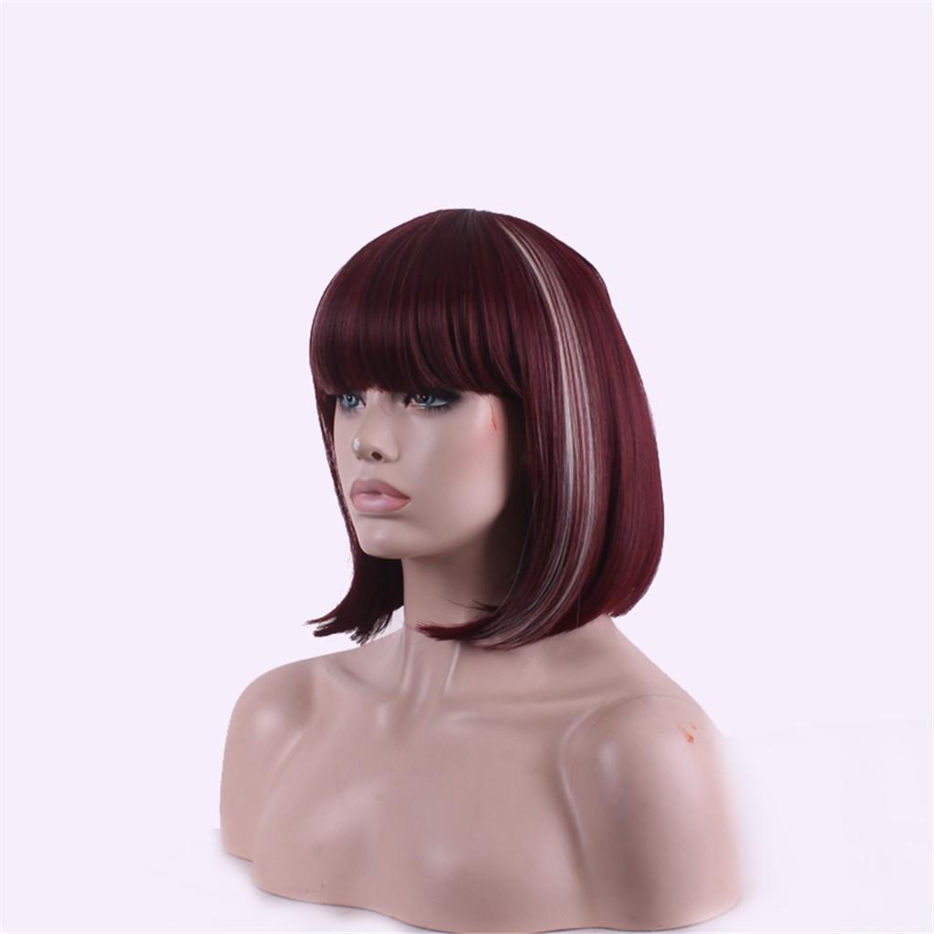 HJXJXJX Mode Wein rot Pick Hochtemperatur Draht Perücke B076FVPCVP Perücken & Haarteile für Erwachsene Preisrotuktion | Grüne, neue Technologie