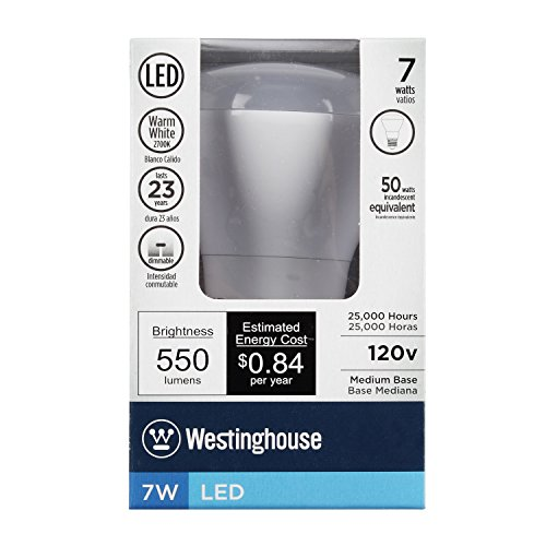 030721330506 - Westinghouse 3305000 7W Reflector Dimmable LED Light Bulb with Medium Base, Warm White carousel main 3