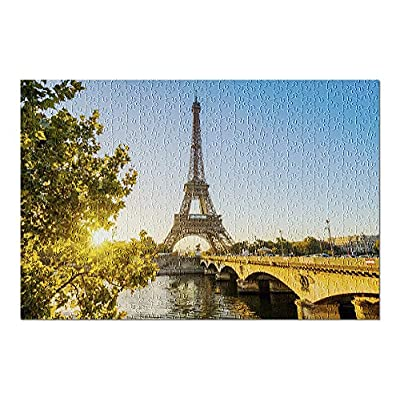 Paris, France Eiffel Tower Photography A-91302 (Premium 500 Piece Jigsaw Puzzle for Adults, 13x19, Made in USA!): Toys & Games