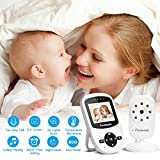 """Anmade Video Baby Monitor, Baby Monitor 2.4"""" LCD Display with Night Vision and Luallabies and Two-Way Talk Back and 900ft Long Range"""