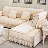 Hoxekle Plush Solid Sofa Covers Protector Slip Resistant Sofa Slipcover Seat Couch Cover for Living Room Decorative