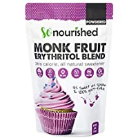 Powdered Monk Fruit Sweetener with Erythritol Confectioners (454 Grams / 16 OZ) - Perfect for Diabetics and Low Carb Dieters - 1:1 Sugar Replacement - No Calorie Sweetener, Non-GMO, Natural Sugar Substitute (454 Grams)