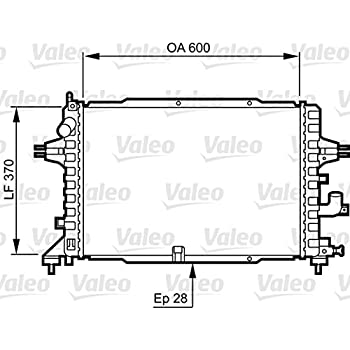 Engine Cooling Radiator VALEO Fits CHEVROLET Lacetti DAEWOO 1.4-2.0L 2003