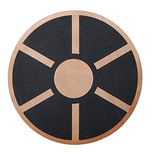 Physport Non-slip Wobble Wooden Balance Board For Exercise Fitness Trainer and Physical Therapy Rehab 360 Rotation from Physport