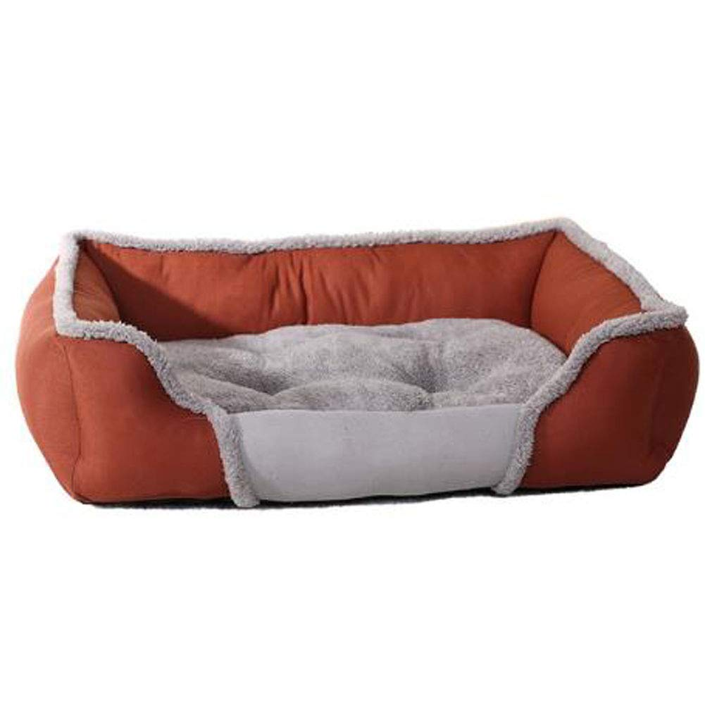 Brown L Brown L Pet beds for Medium Small Large Dogs Spring, Summer, Autumn and Winter beds for Cats Washable,Brown,L