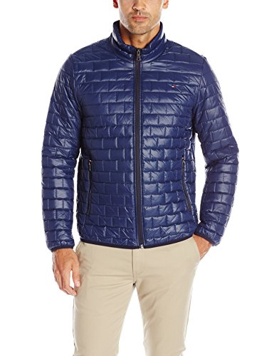 Tommy Hilfiger Men's Ultra Loft Quilted Packable Jacket, Navy, L