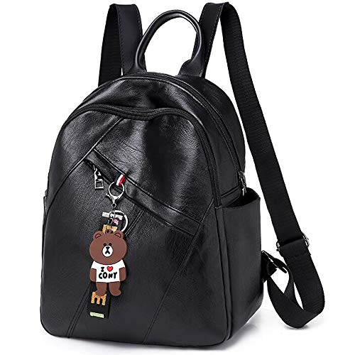 Longess Mini Backpack Fashion Shoulder Bags Rucksack PU Leather Women Girls Ladies Backpack Travel Bag - Leather Tech Backpack