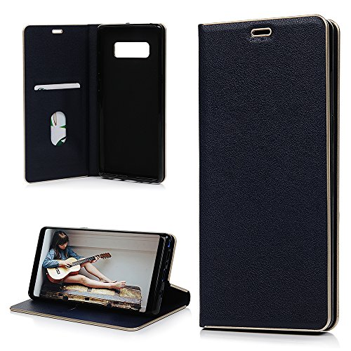 Price comparison product image Galaxy Note 8 Wallet Case,  YOKIRIN Vintage Book Series Business Style Full Body Protection PU Leather Handmade Flip Cover with Card Slots & ID Holder Magnetic Closure for Samsung Galaxy Note 8,  Blue