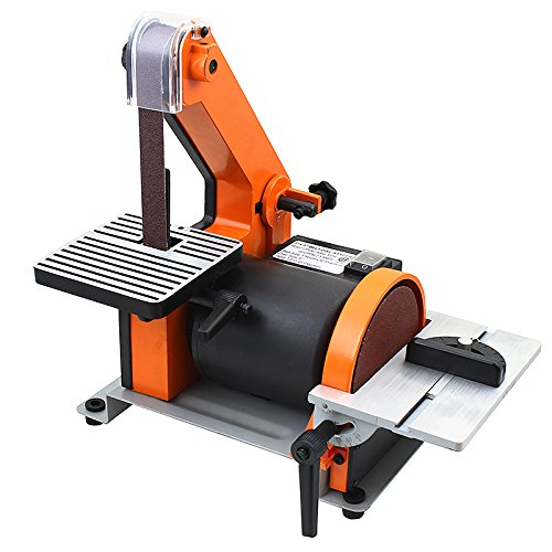 xtremepowerus 1 x 30 belt 5 disc sander polish. Black Bedroom Furniture Sets. Home Design Ideas