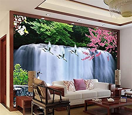 chlwx 350cmx240cm (137 8inx94 307in) 3d wallpapers mural waterfall