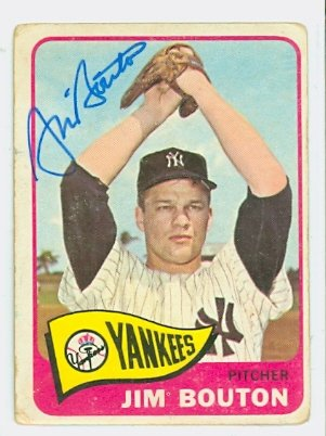 7c23bb3705f Image Unavailable. Image not available for. Color  Jim Bouton AUTOGRAPH  1965 Topps  30 New York Yankees
