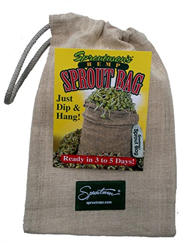 Sproutman Hemp Sprout Bag - Just Dip in Water, Hang It Up, Watch It Grow ()