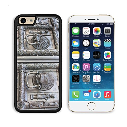 Apple iPhone 6 6S Aluminum Case Famous bronze west entrance gates of StSophia Cathedral in Veliky Novgorod allegedly IMAGE 10372680 by MSD Customized Premium Deluxe Pu Leather generation Accessories H