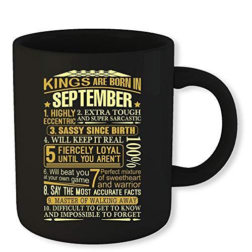 - Virgo Zodiac Coffee Mug Kings Are Born In September Funny Novelty Gift 11 Oz Coffee Mug Gift For Men Women