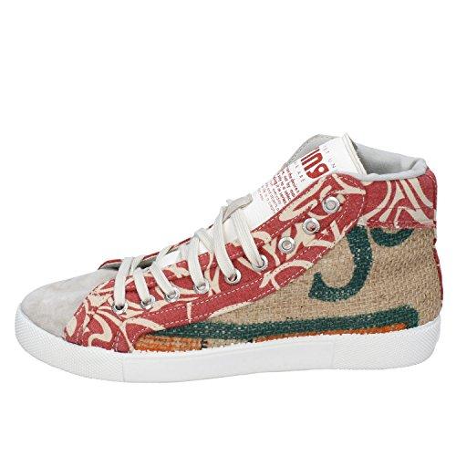 SPRINGA Damen Sneaker Beige/Rosso