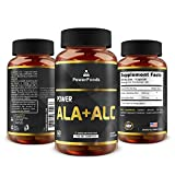 Pure Alpha Lipoic Acid + Acetyl L Carnitine (ALCAR) ★ Power ALA ALC x60 capsules (easy to swallow) ★ Antioxidant ★ Supports Immune System + Healthy Liver Function ★ Weight Loss + Energy